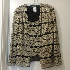 R&M COLLECTION blouse with jacket 1piece
